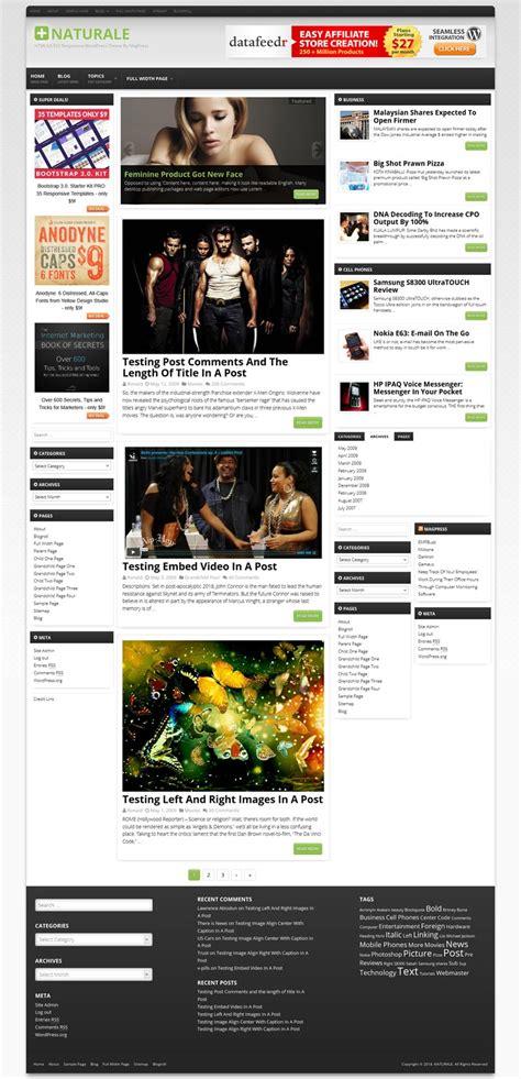 wordpress themes in html5 naturale wordpress theme responsive html5 css3