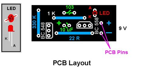 layout running led 20 led single flashing led