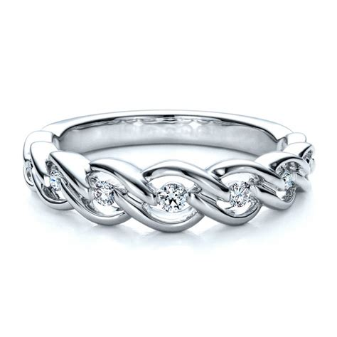 tension set band with matching engagement ring