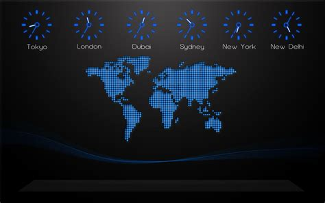 earth clock wallpaper world map on your desktop creative designs desktop