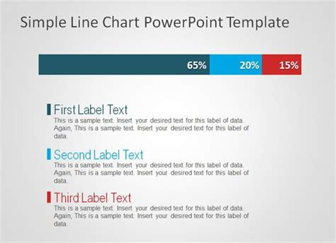 design powerpoint simple free simple line chart powerpoint template