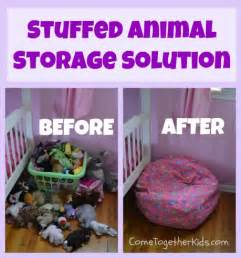 come together kids: stuffed animal storage solution