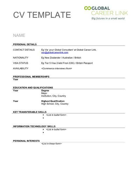 image result for simple cv format in word x pinterest simple