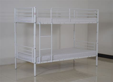 Bunk Beds Separate Space Saving Bedroom Bunk Bed Metal Frame Sleeper 2 Separate Single Beds White Ebay