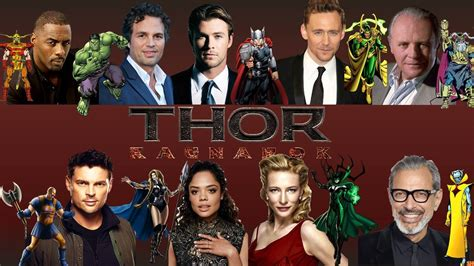 film thor ragnarok cast the new thor ragnarok trailer reveals entire roster of
