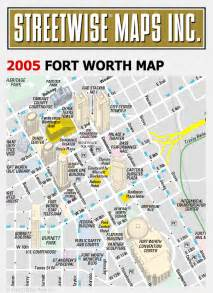 map of downtown fort worth streetwise 174 maps