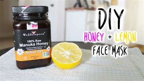 diy honey lemon mask vlogwithkendra