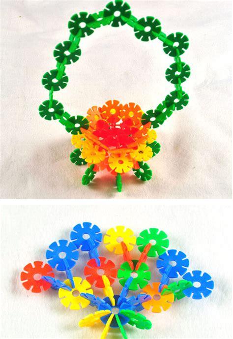 jual mainan edukatif anak meronce merangkai bombik bunga plastik promo serba jadi