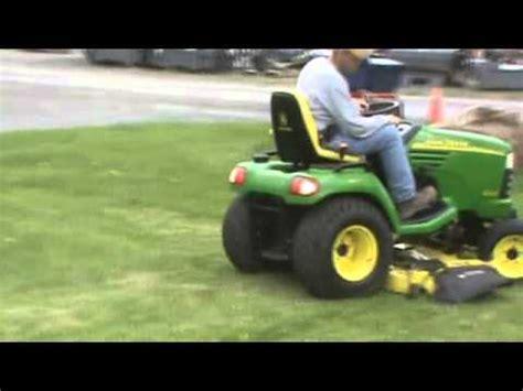 john deere x585 garden tractor lawn mower 4x4 power