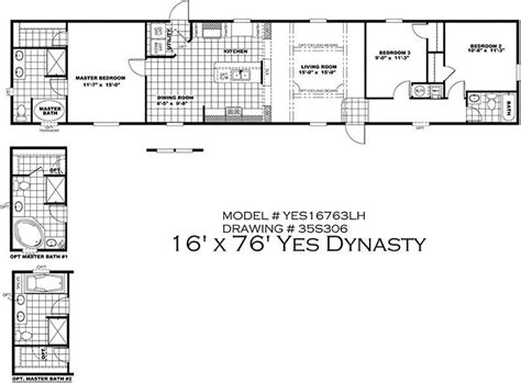 16 by 80 mobile home floor plans 16 by 80 mobile home floor plans mibhouse