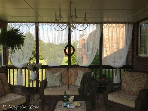 screen porch curtains 1000 ideas about screened porch decorating on pinterest