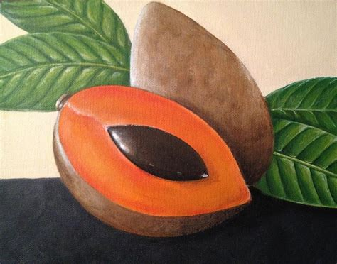 color mamey mamey painting by laurie dellaccio