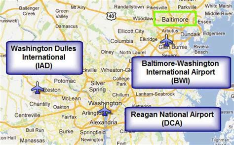 airports in washington dc map map of washington dc airports map travel