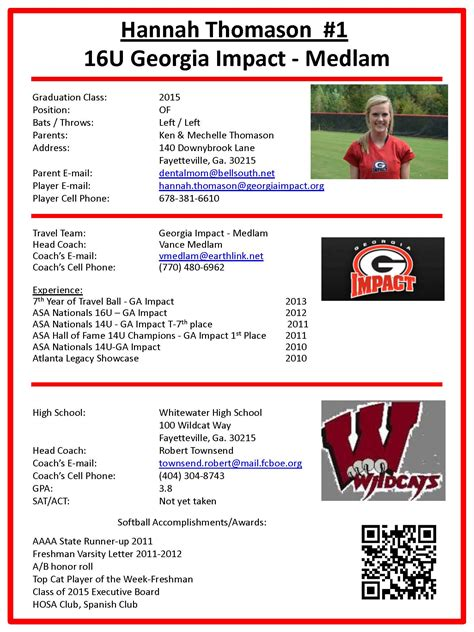 player profile template player profile sheet softball web library