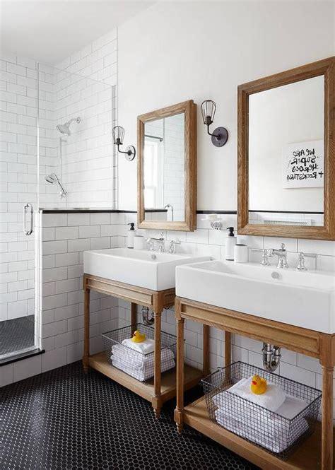 shared bathroom ideas shared kids bathroom with black hexagon tiles
