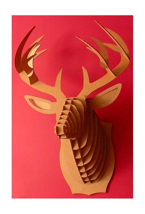 cardboard taxidermy templates 1000 ideas about cardboard deer heads on