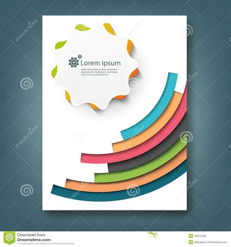 cover report template report and cover book template stock illustration image