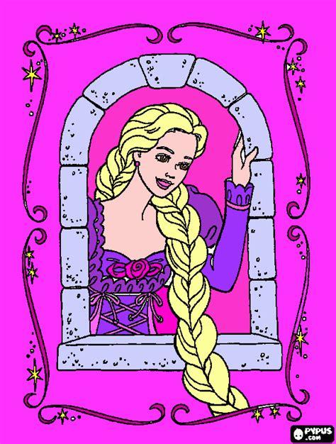 barbie rapunzel coloring pages games barbie rapunzel coloring page printable barbie rapunzel