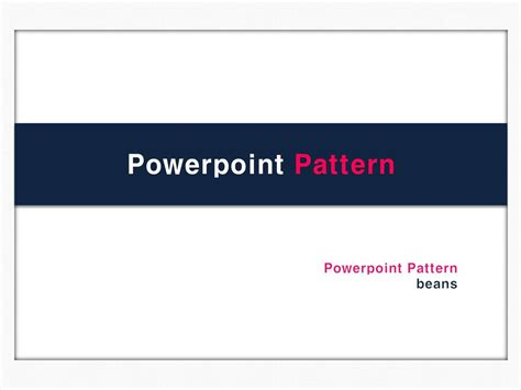 Ubeans Presentation Story Ppt 템플릿 파워포인트로 만든 템플릿 Pattern Pt Template