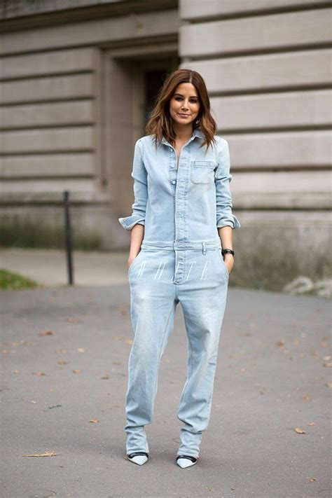 hairstyles to do with jumpsuit how to style your denim jumpsuit glam radar