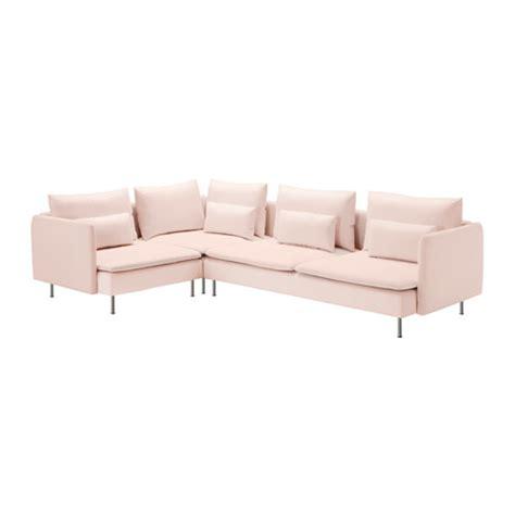 ikea microfiber sofa s 214 derhamn sectional 4 seat corner samsta light pink ikea