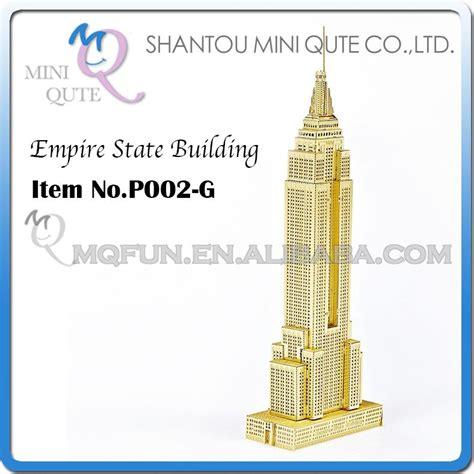 Mini 3d Metal Puzzle Ancient Architecture 50pcs lot mini qute 3d metal puzzle golden empire state building world architecture model