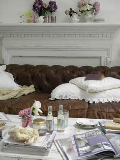 shabby brown leather sofa sofa so on sofas settees and