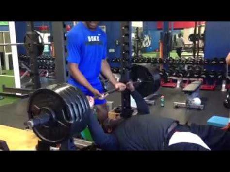 500 lb bench press nfl defensive tackle brandon mckinney 500 lb bench press