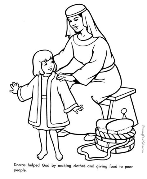 Coloring Page Acts 9 by Dorcas Bible Page To Print And Color This Goes Well With