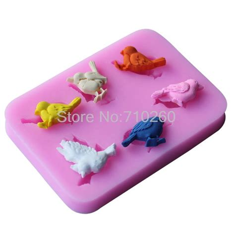 Cake Decorating Molds by Aliexpress Buy New Lovely Bird Silicone Mold Fondant