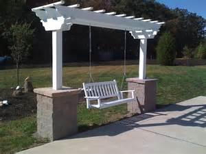 How To Build A Arbor Trellis George Skriapas Concrete Amp Son L L C Pergola Arbors