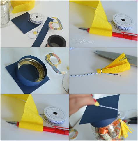 How To Make A Paper Graduation Cap - graduation hat jar graduation gift idea hip2save