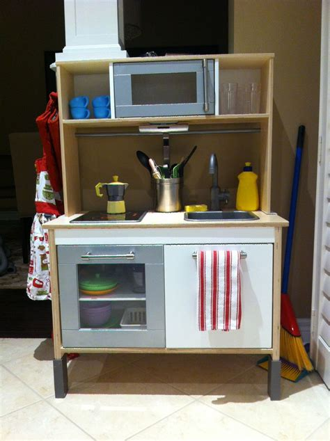 ikea kitchen lights under cabinet ikea play kitchen customized with stainless steel paint