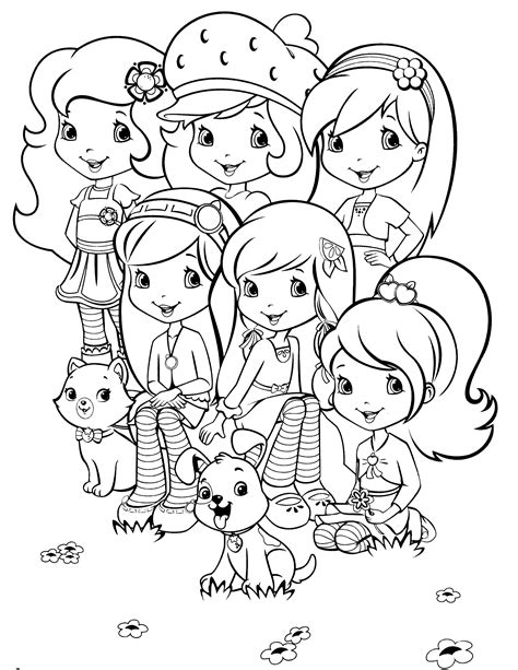 strawberry shortcake coloring book strawberry and cherry coloring page coloring pages