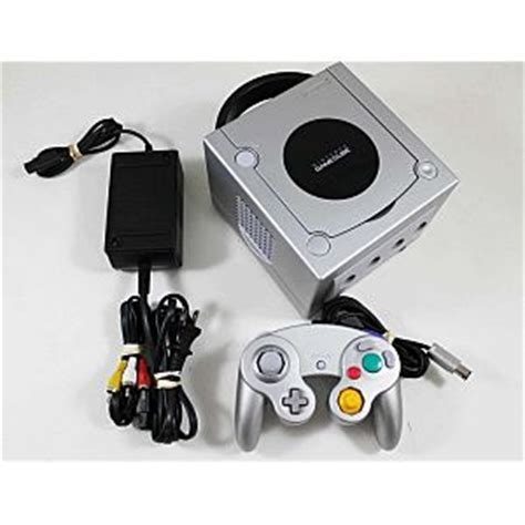 used nintendo gamecube silver system console