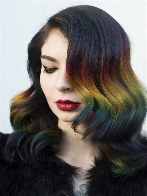 hait color rainbow ombr 233 hair color technique with roots