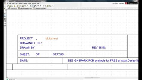 project sign template free designspark pcb tutorial setting up a project and