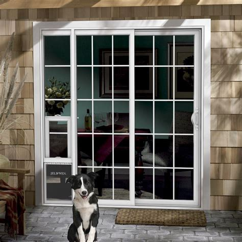 Sliding Screen Door With Pet Door Built In by Sliding Screen Doors With Door Built In Home Design