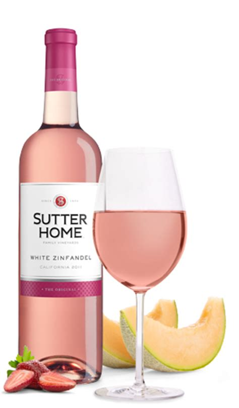 sutter home s white zinfandel wine 5 servings per 750ml