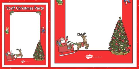 staff christmas party staff poster template staff