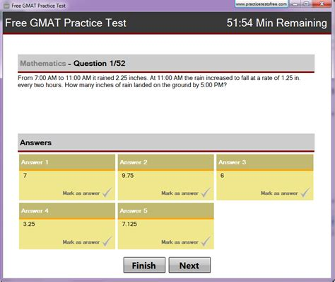 Free Gmat Mba by Free Gmat Practice Test 1 0 Screenshot