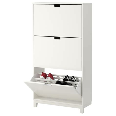 st 196 ll shoe cabinet with 3 compartments white 79x148 cm ikea