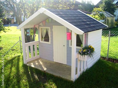 diy backyard playhouse gartenhaus spielhaus kinderspielhaus kindergartenhaus