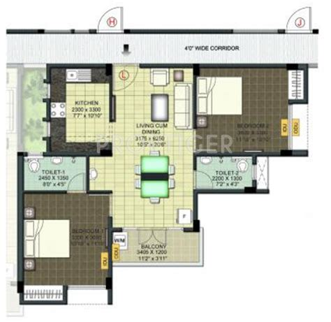 950 sq ft 950 sq ft 2 bhk 2t apartment for sale in ramaniyam real