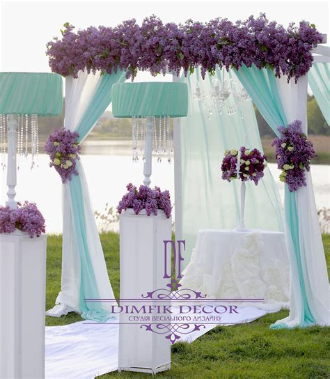 Wedding Ceremony Decorations lilac & white & mint