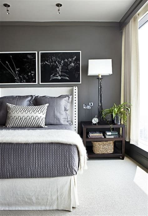 gray and white master bedroom benjamin moore kendall charcoal interiors by color 8