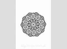 Mandala Zeichnung – auch zum Ausmalen 2017 Kalender