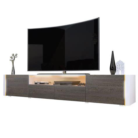 porta tv led casanova porta tv moderno mobile soggiorno bianco con led