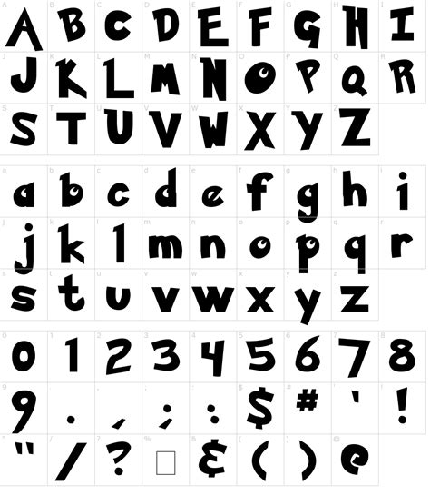 typography characters pok 233 mon font