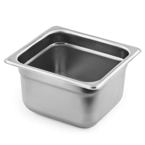 6 steam table pans 4 1 6 size standard weight stainless steel steam